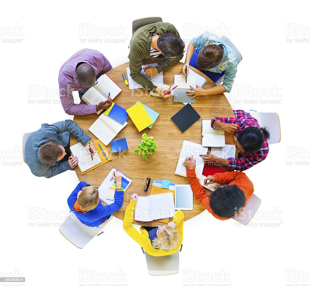 Multi-Ethnic Group Working Together stock photo