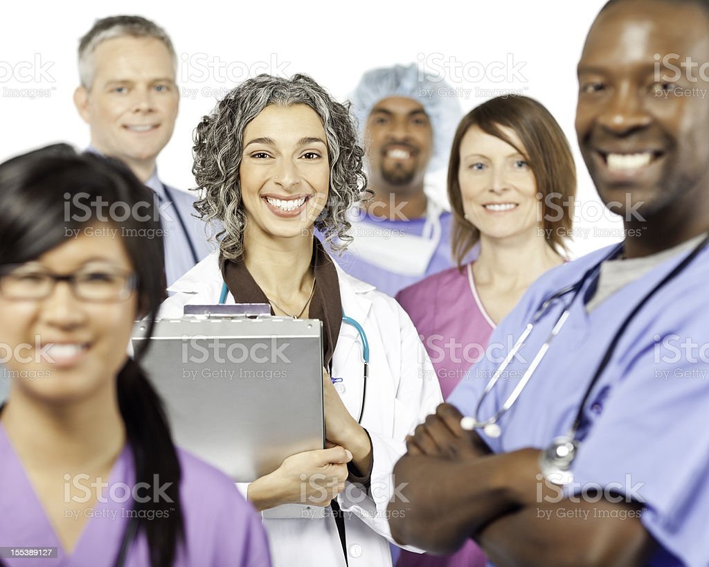 Multiethnic Medical Professionals royalty-free stock photo