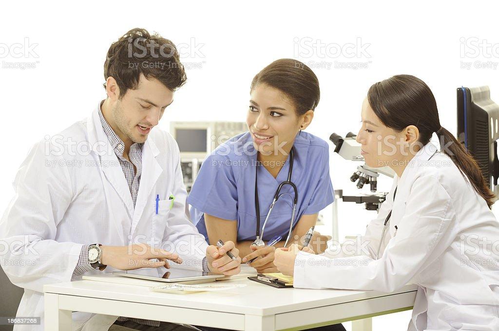 Multiethnic medical team royalty-free stock photo