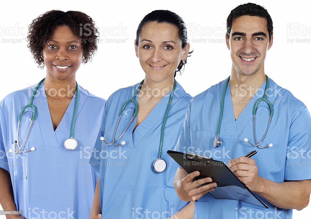 Multi-ethnic medical team stock photo