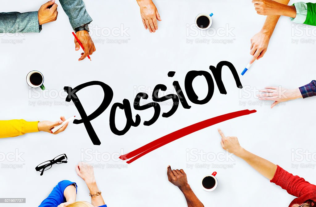 Multiethnic People Discussing about Passion stock photo