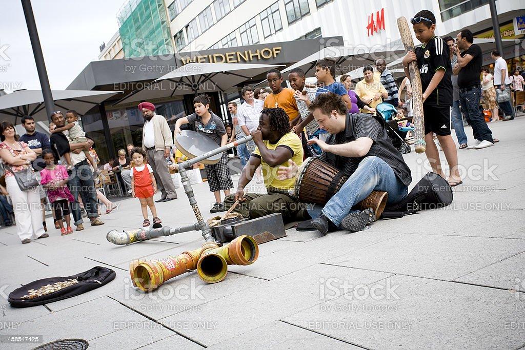 Multi-ethnic street musicians royalty-free stock photo