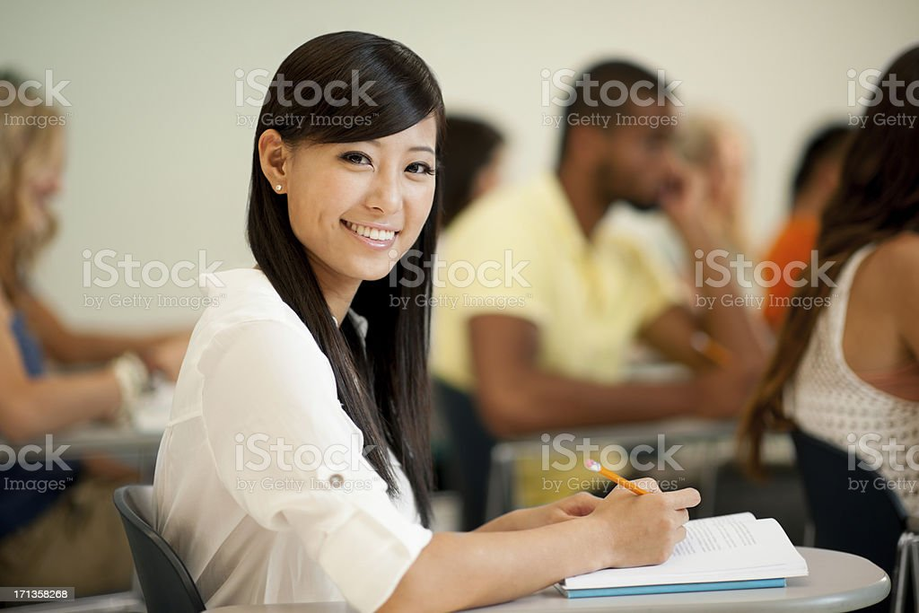 Multi-ethnic students royalty-free stock photo