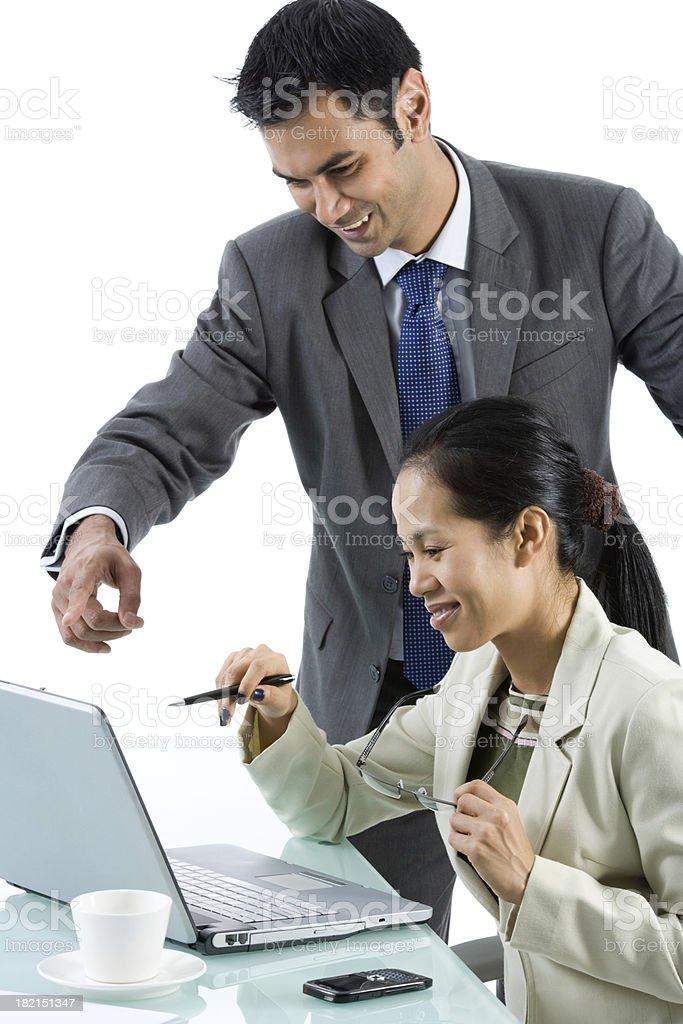 Multi-Ethnic Teamwork royalty-free stock photo