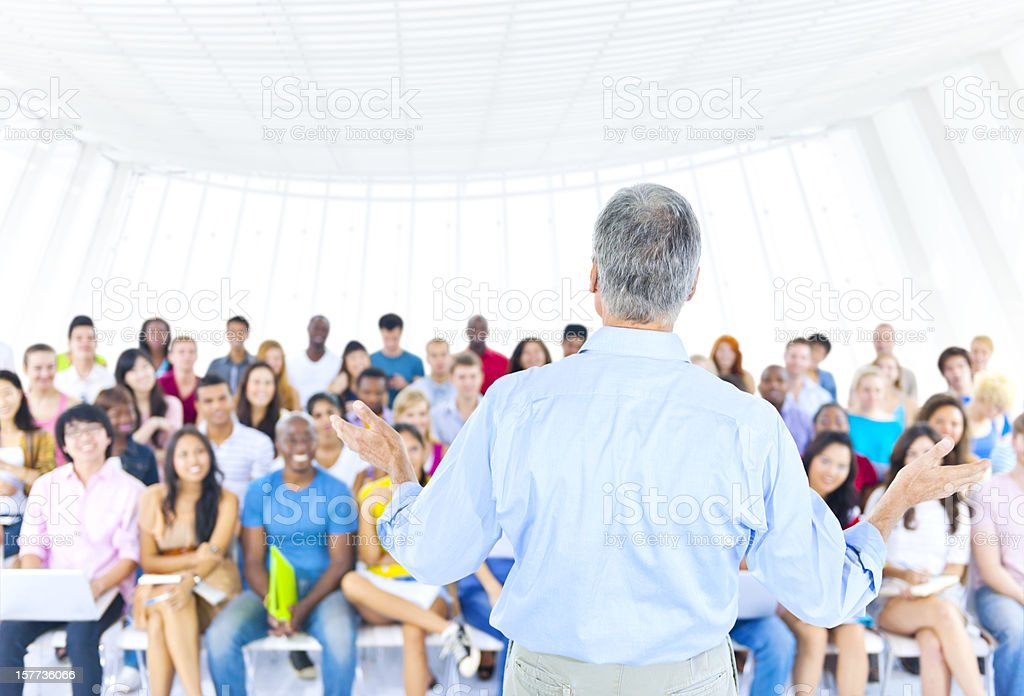 Multi-ethnic young people in Classroom royalty-free stock photo