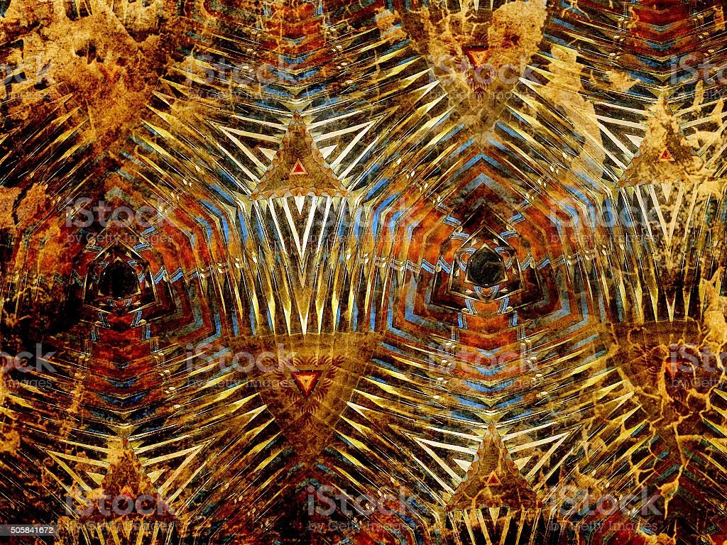 Multifaceted glass background in dark colors stock photo