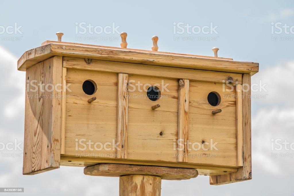 Multi-family Birdhouses stock photo