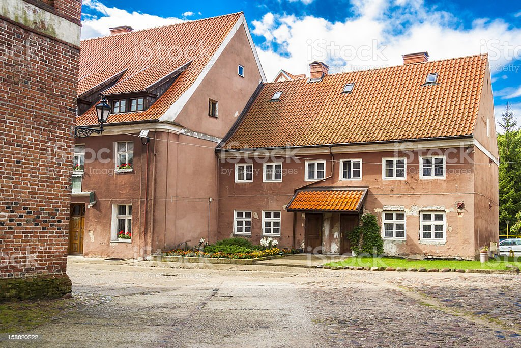 Multifamily house - Reszel, Poland. stock photo