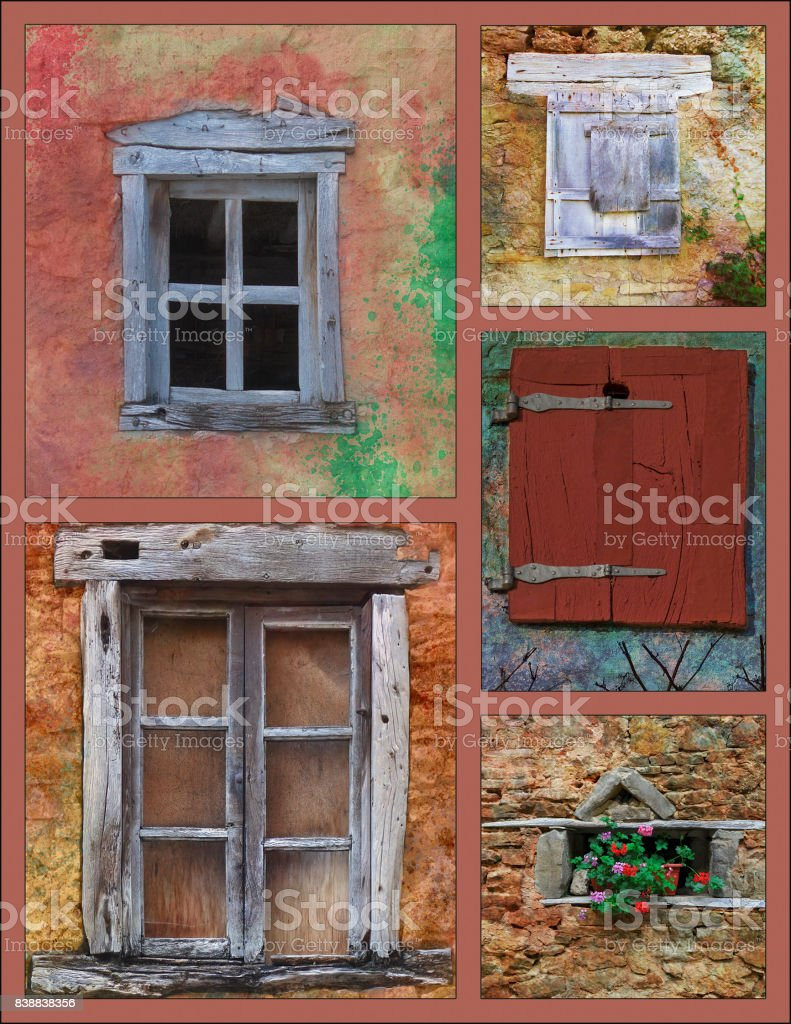 Multi-fenêtres stock photo