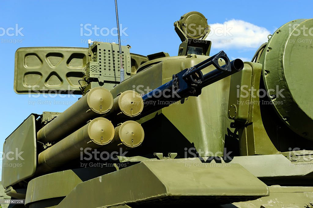 Multifunction weapon complex stock photo