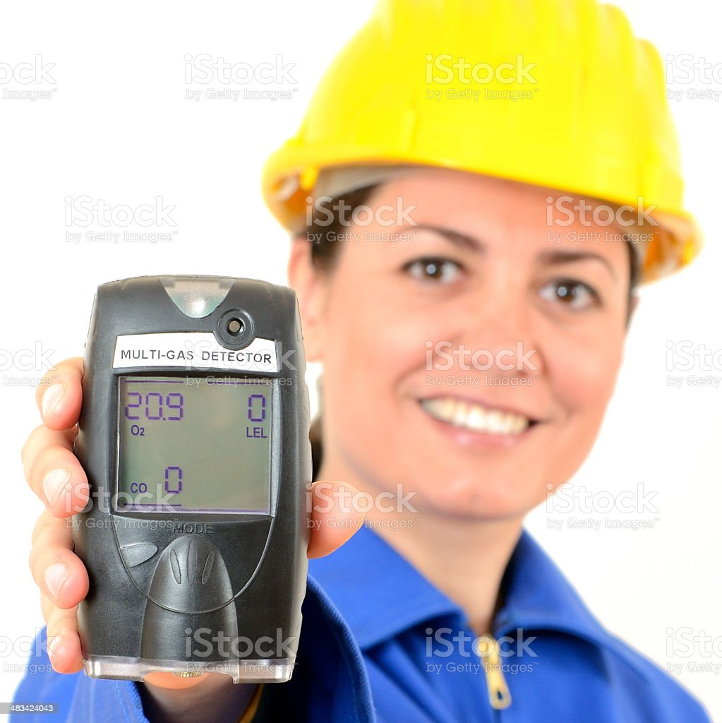 Multi-gas detector. Gas analyzer stock photo