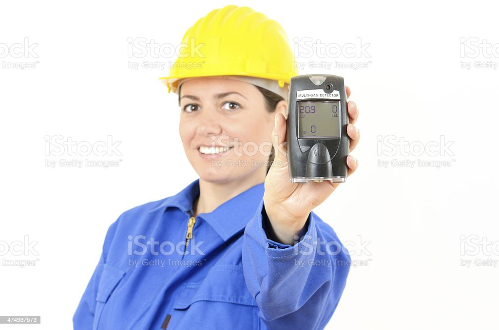 Multi-gas detector stock photo