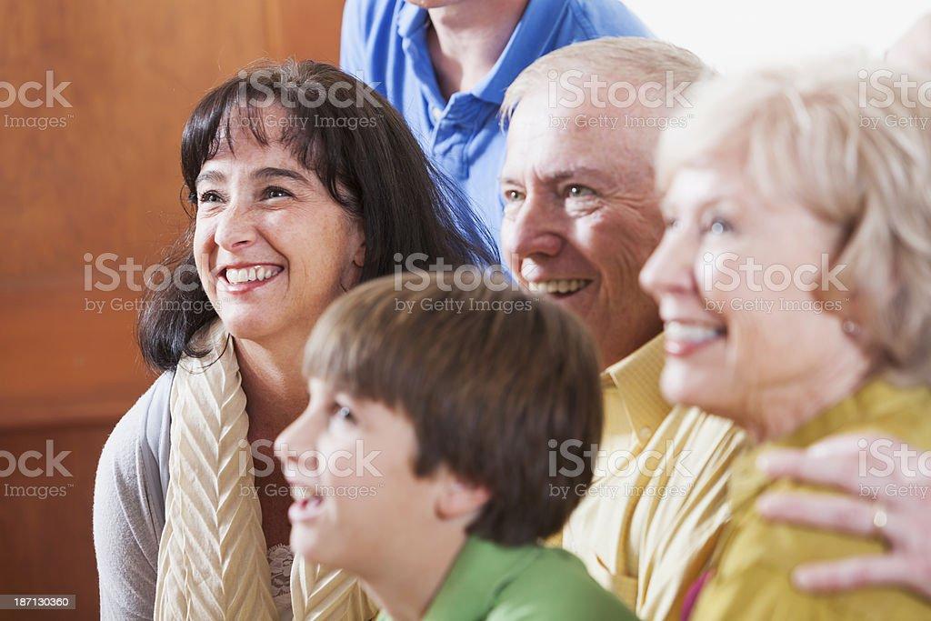 Multi-generation family royalty-free stock photo
