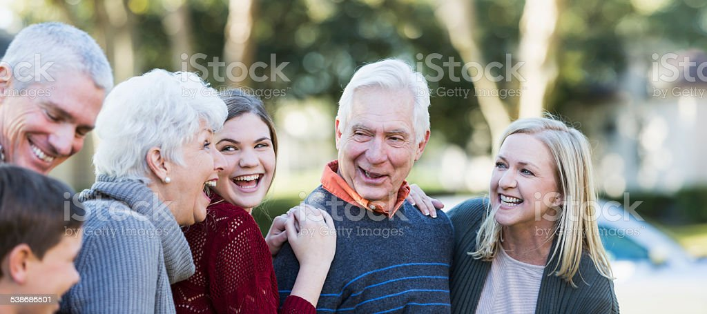 Multi-generation family stock photo