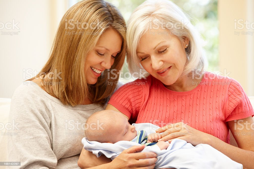 Multi-generation family portrait royalty-free stock photo