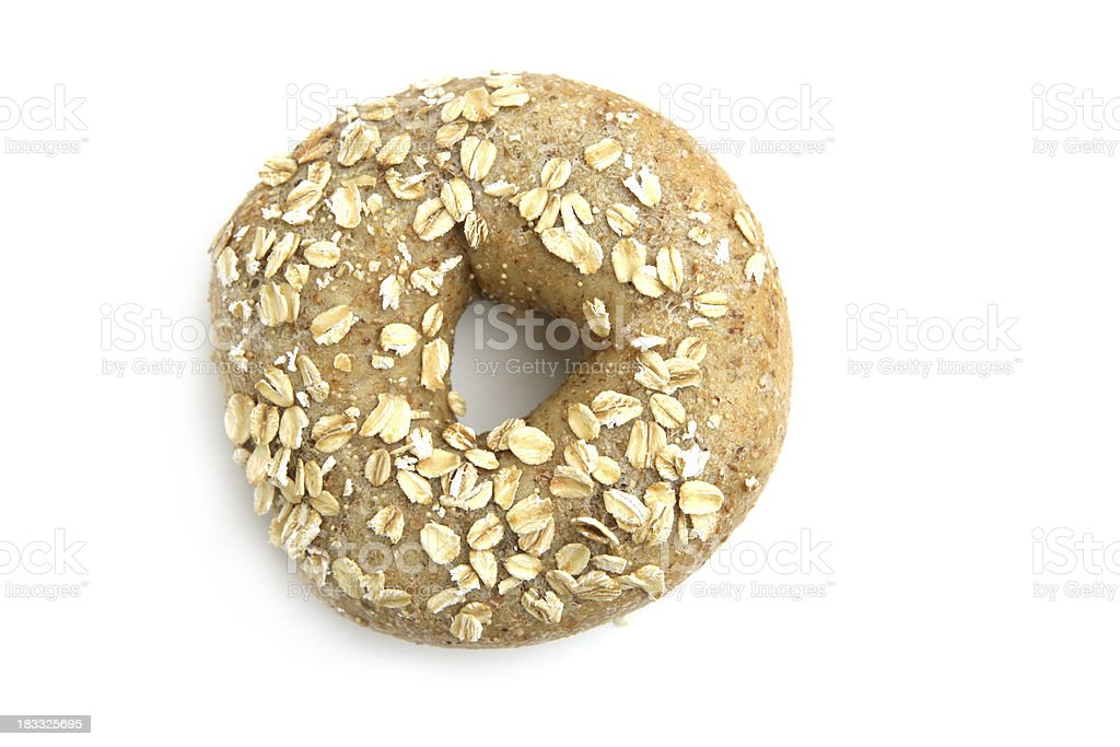 Multi-grain Bagel Isolated on White royalty-free stock photo