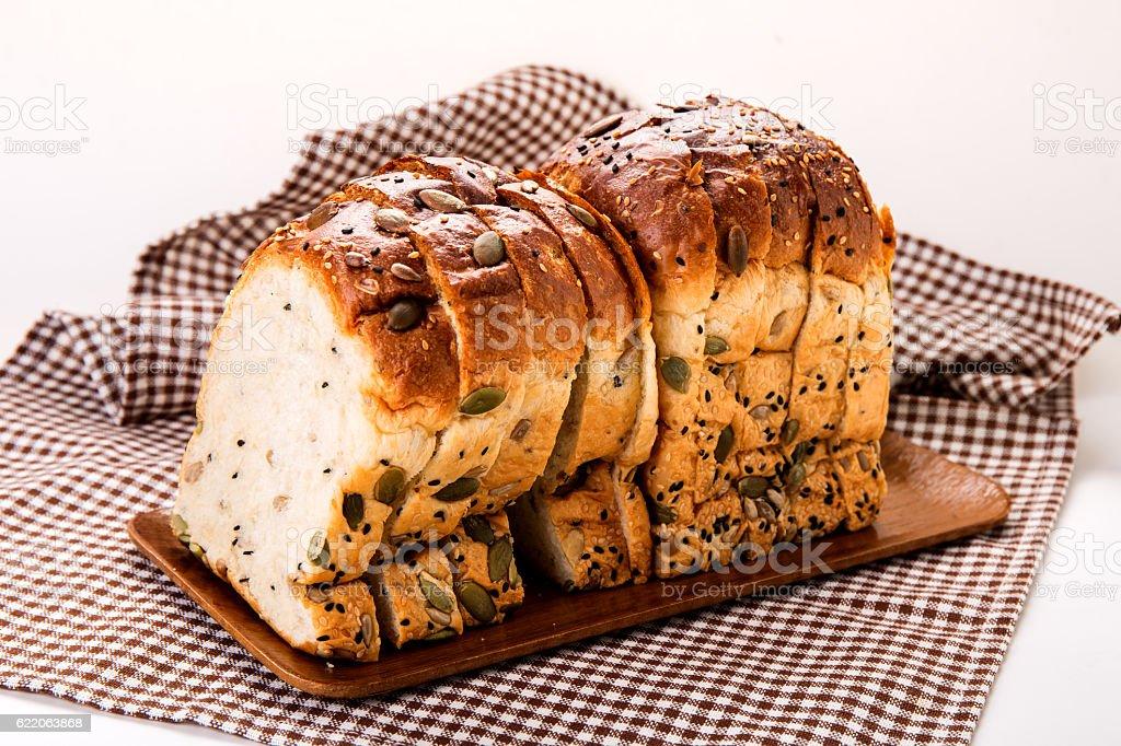 Multigrain bread. stock photo