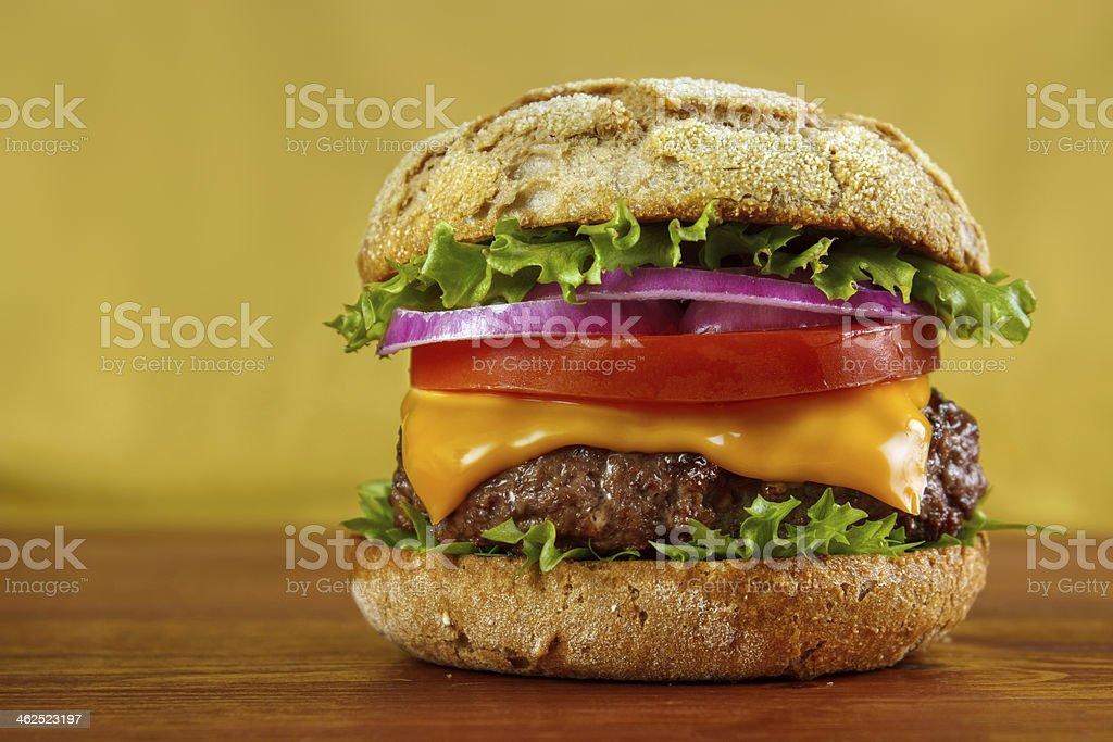 Multigrain bun hamburger royalty-free stock photo
