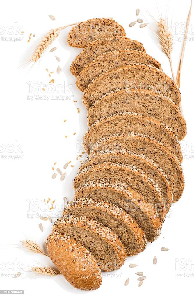 Multigrain organic bread stock photo