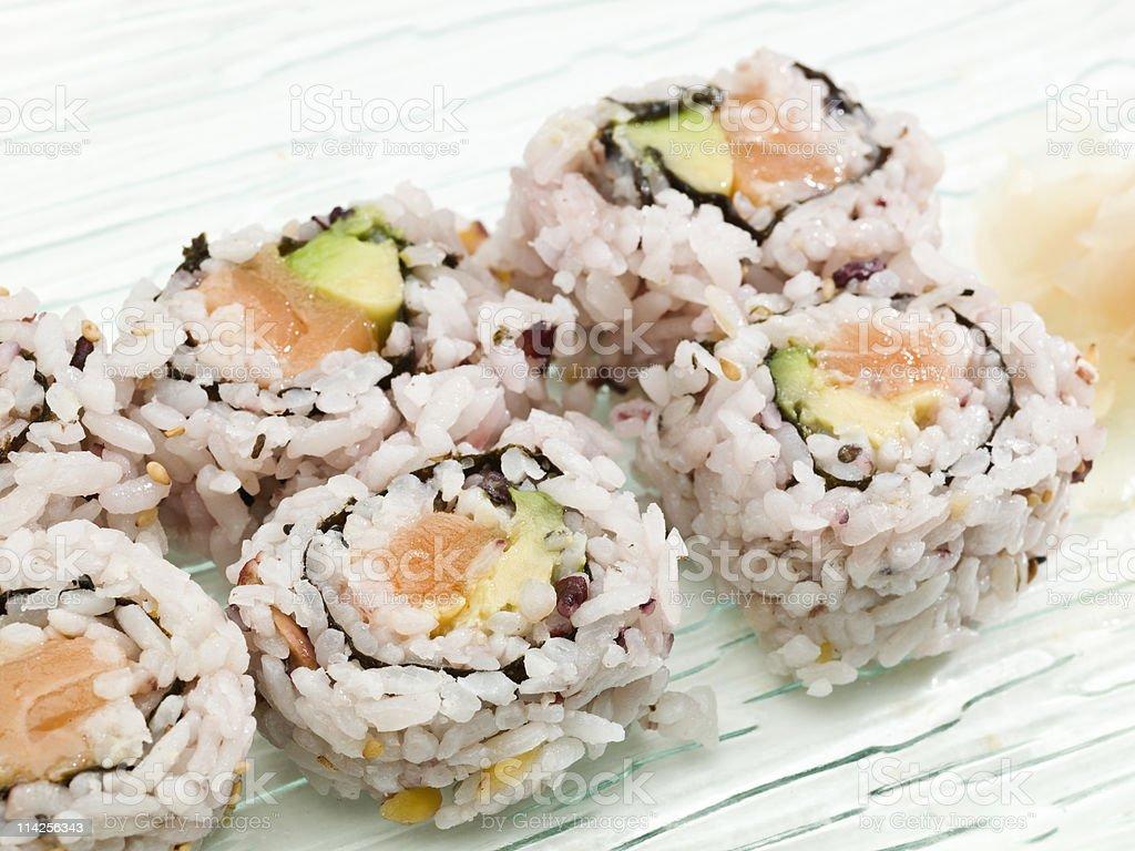 Multigrain Sushi royalty-free stock photo