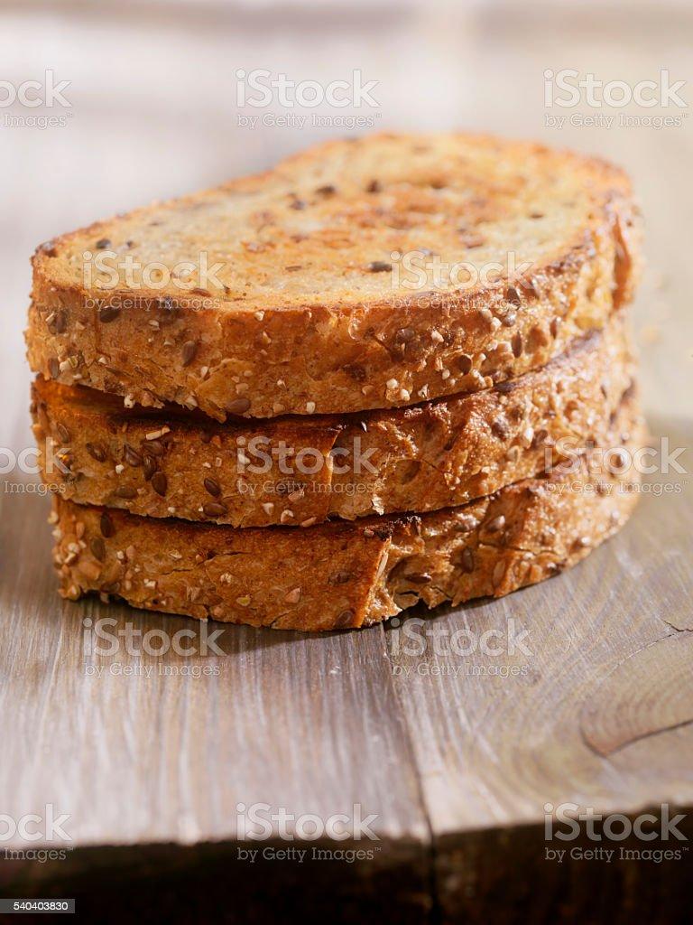 Multigrain Toast stock photo