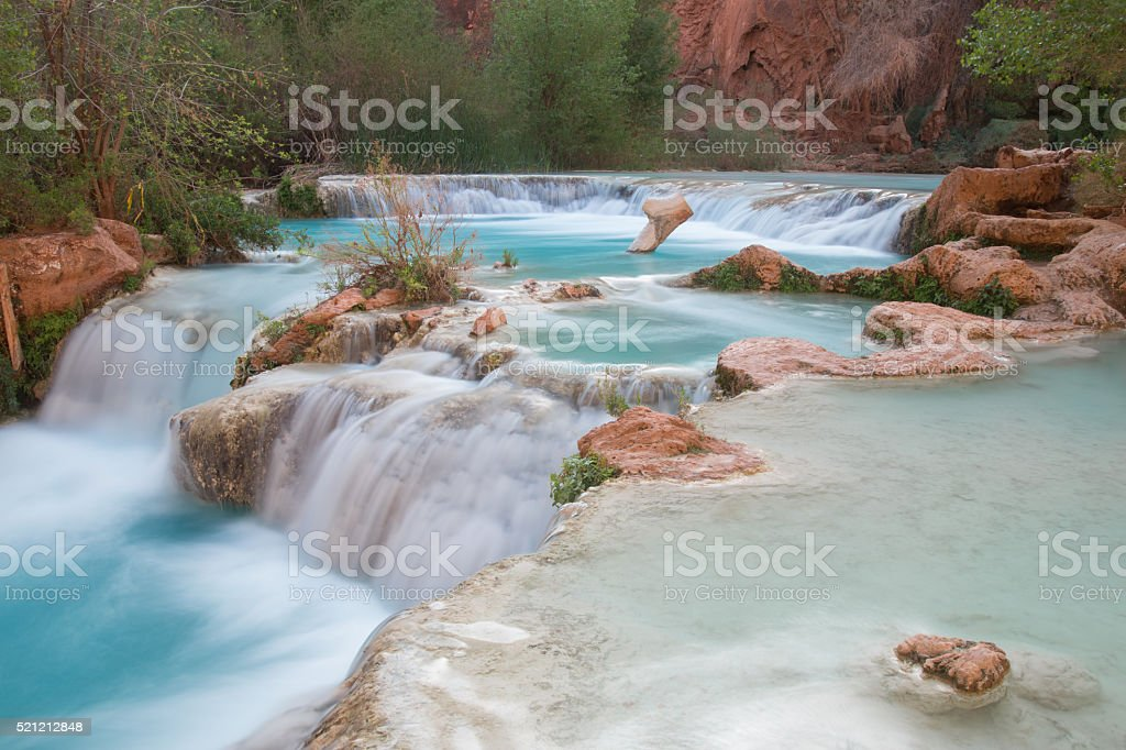 Multi-layered pool of Havasu Falls stock photo