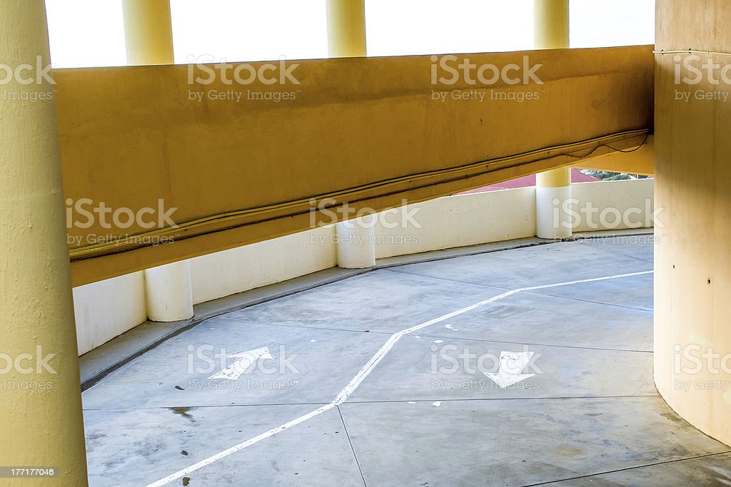 Multi-level carpark with arrows royalty-free stock photo