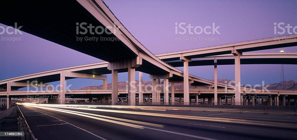Multi-Level Freeway stock photo