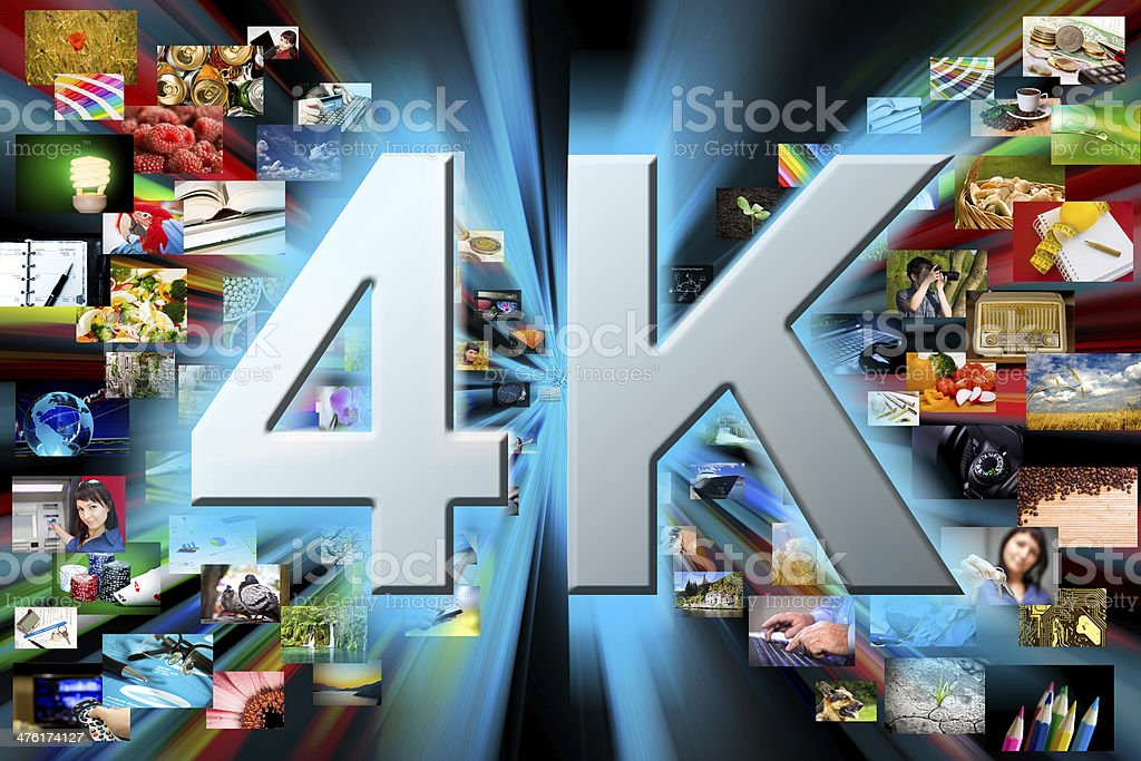 Multimedia background. 4k resolution concept stock photo
