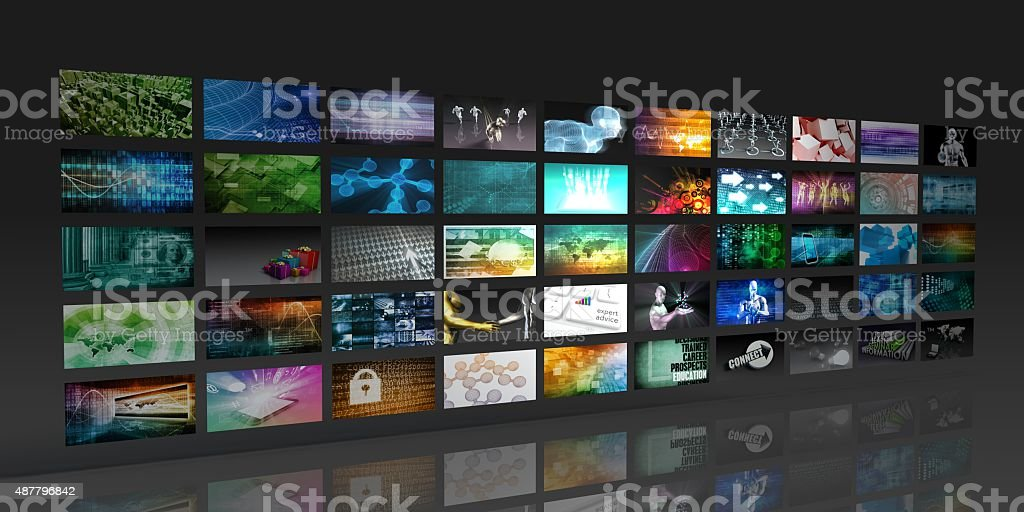 Multimedia Background stock photo