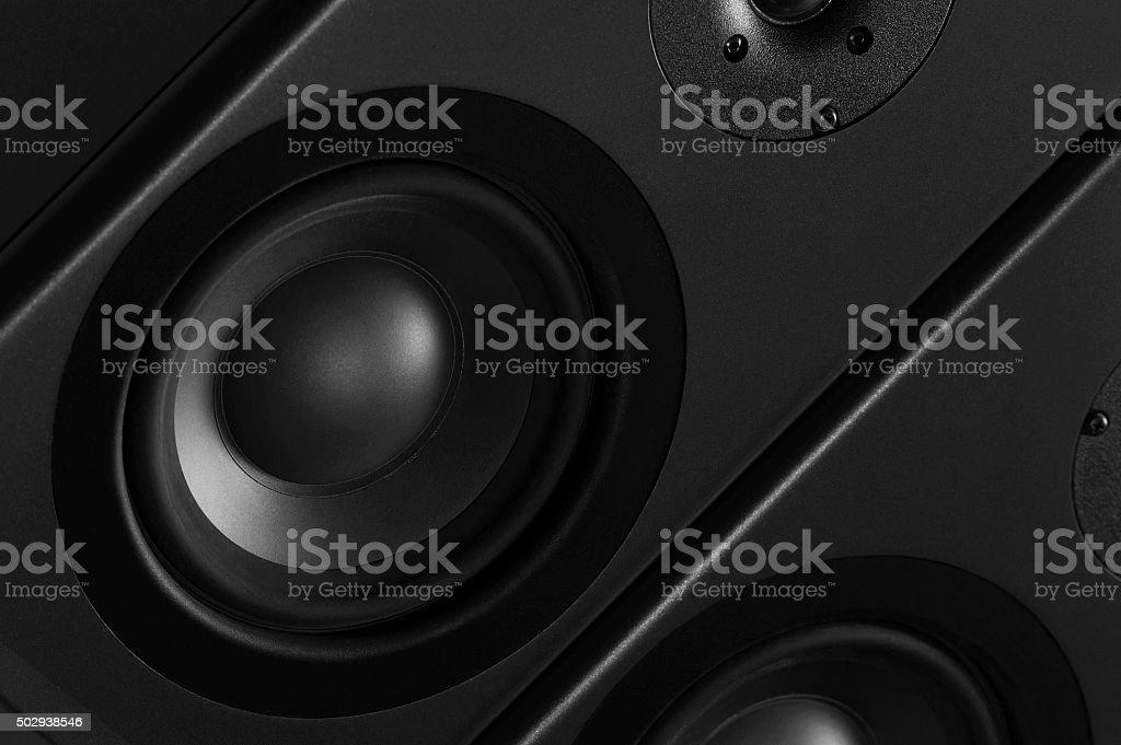 Multimedia speaker stock photo