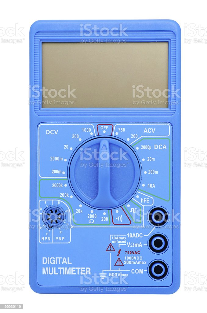 Multimeter with LCD stock photo