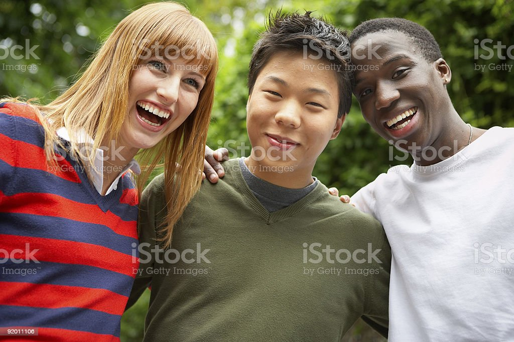multinational together royalty-free stock photo
