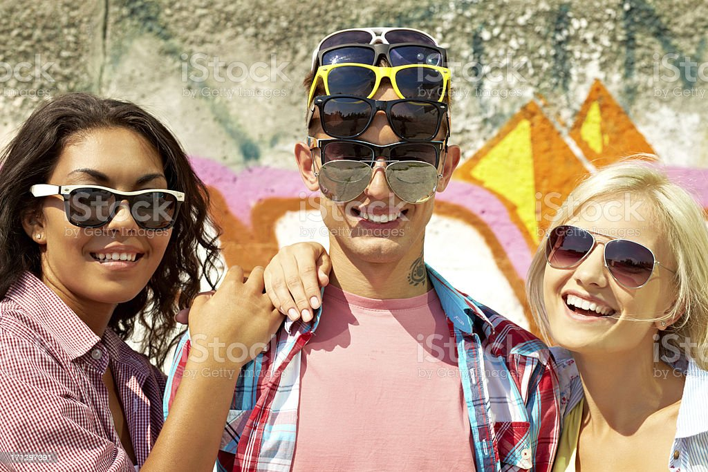 Multiocular friend royalty-free stock photo