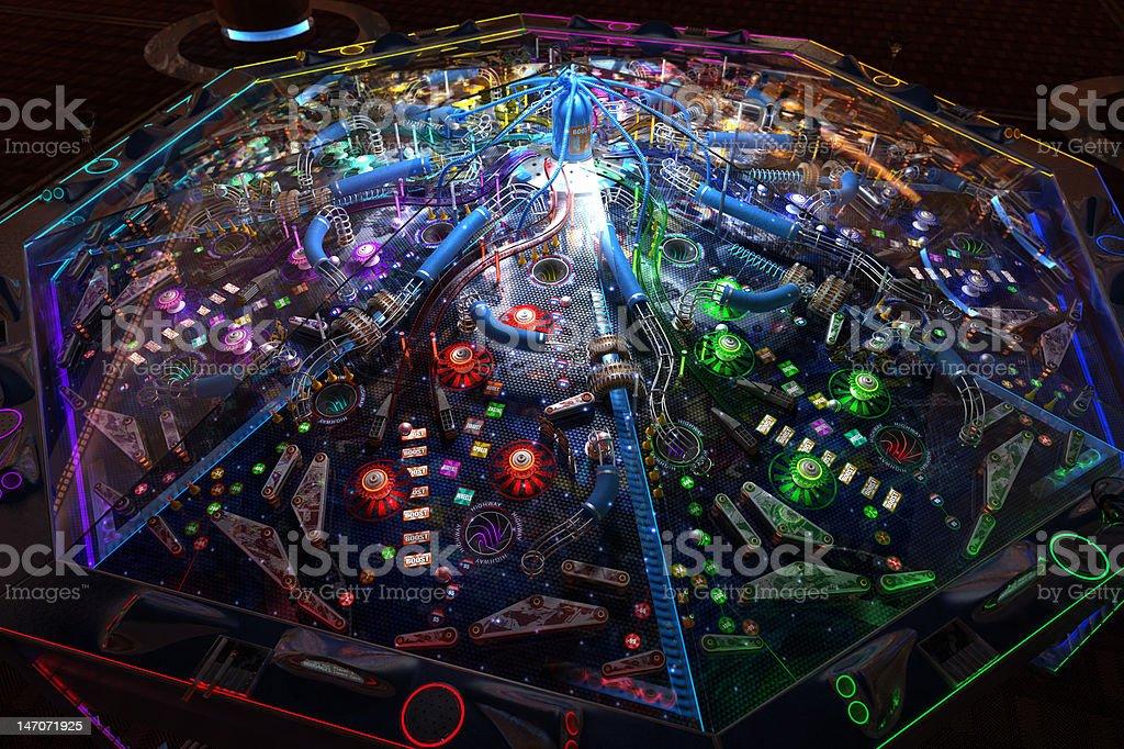 Multiplayer Pinball Machine royalty-free stock photo