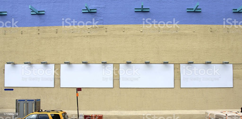 Multiple Advertising Billboard space in Manhattan NY stock photo