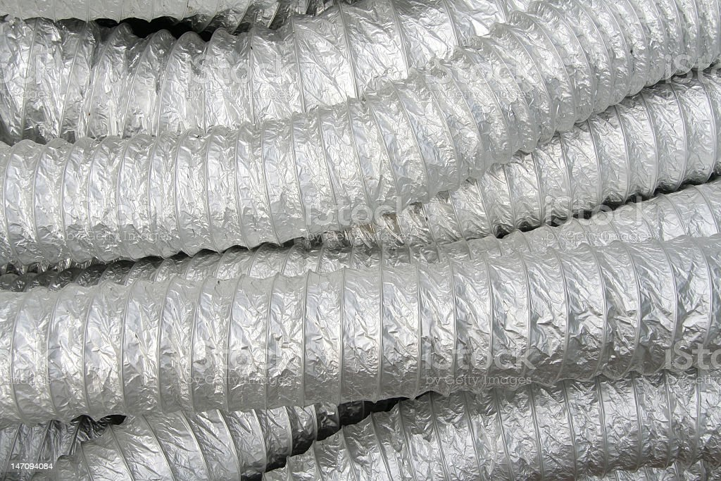 Multiple Air conditioner tubes royalty-free stock photo