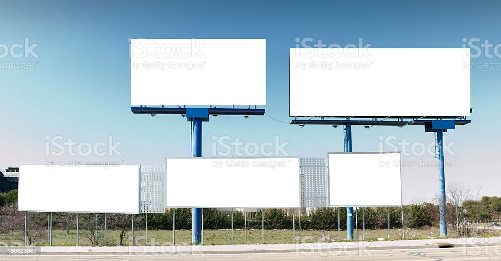 Multiple billboard: all sizes royalty-free stock photo