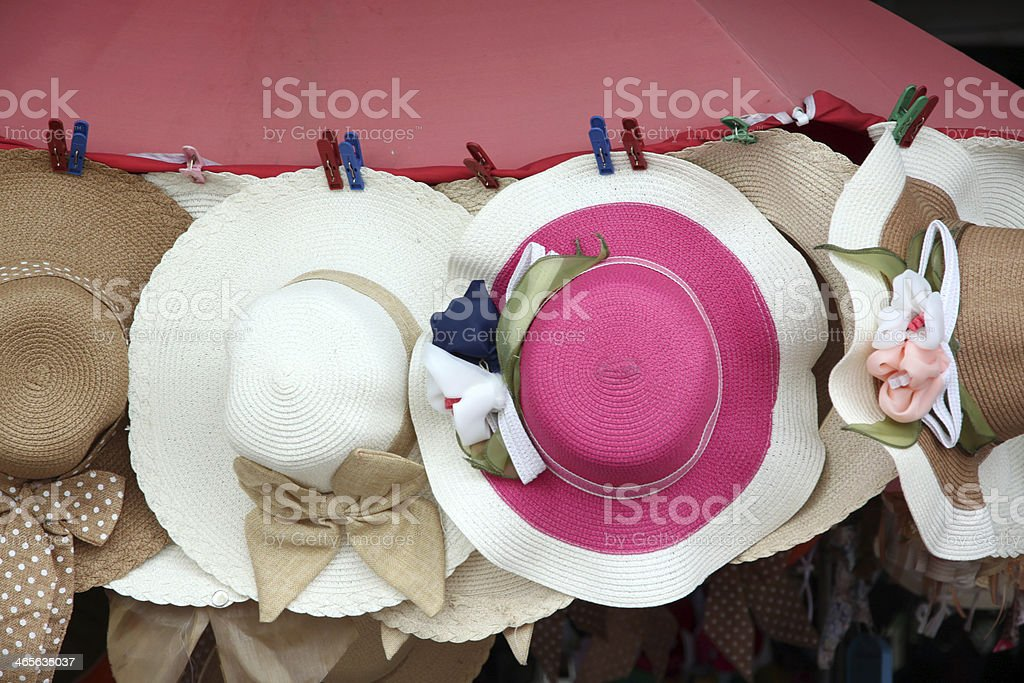 Multiple blade hat hanging. royalty-free stock photo