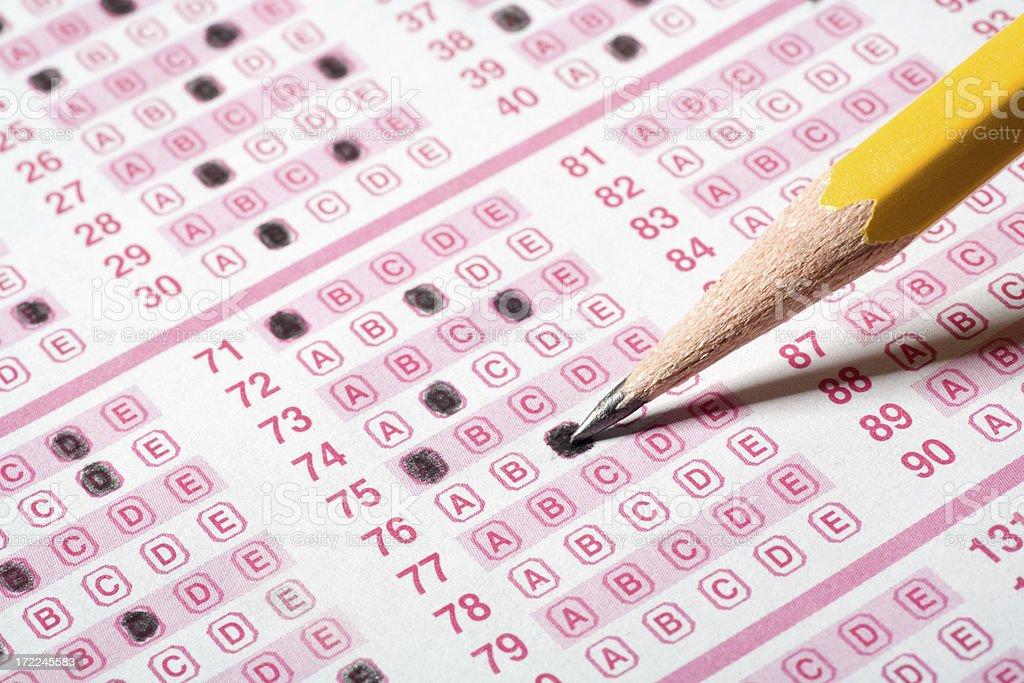 Multiple Choice Exam royalty-free stock photo