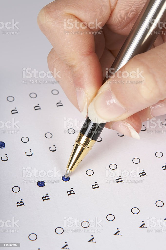 Multiple choice form royalty-free stock photo