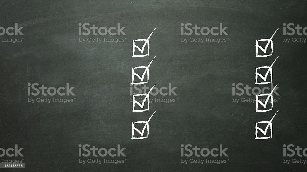 multiple choice selection list royalty-free stock photo