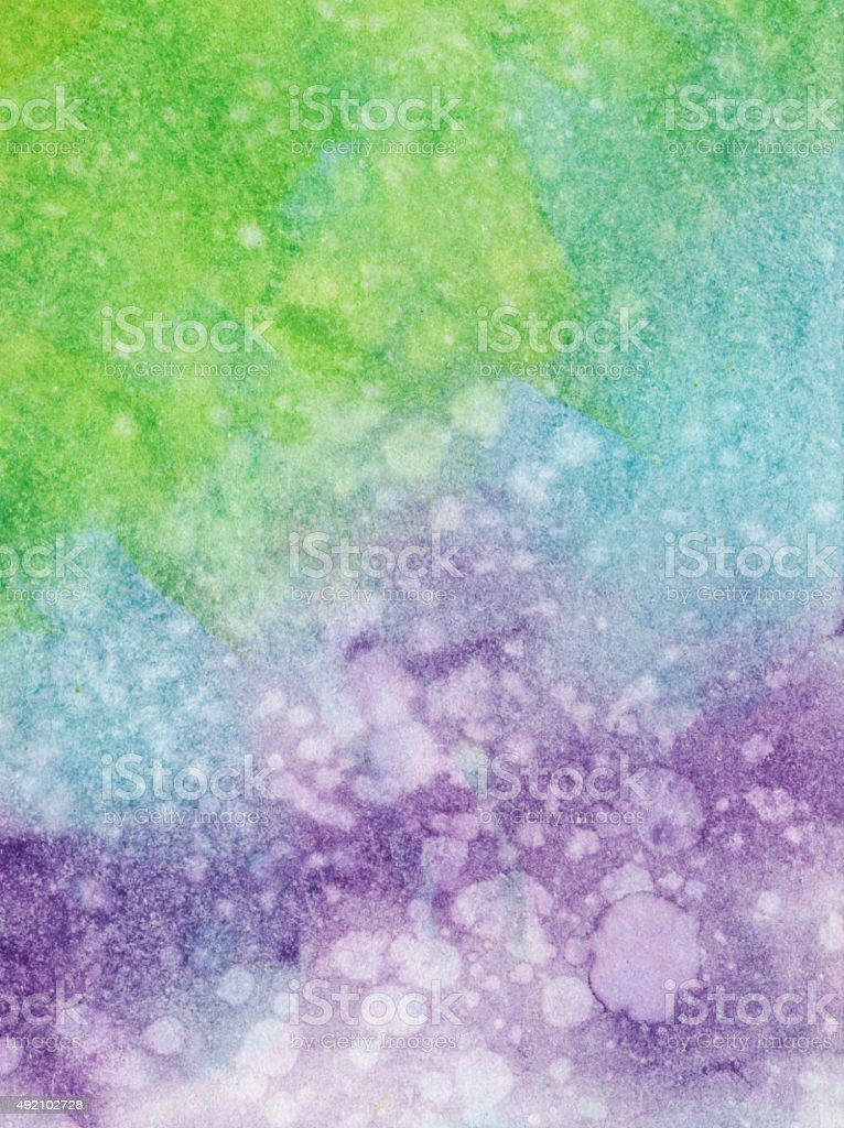 Multiple color gradient with shades of green blue and purple vector art illustration
