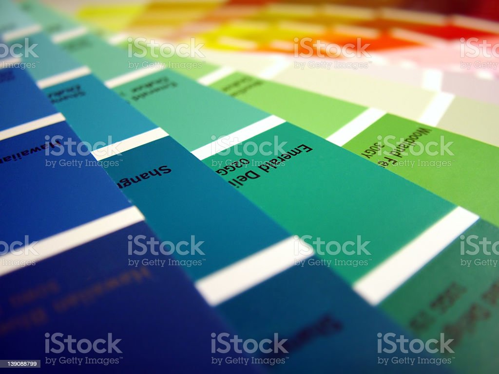 Multiple color swatches for paint royalty-free stock photo