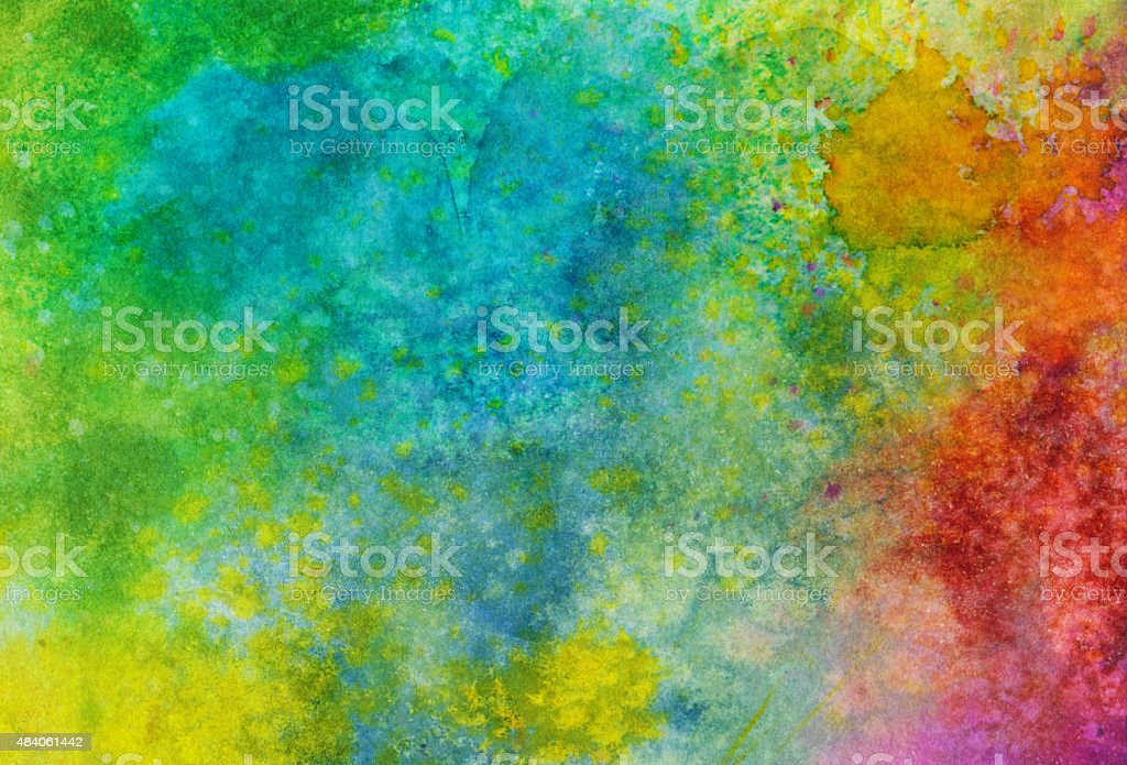 Multiple colors of paint mixed together to form vibrant background vector art illustration