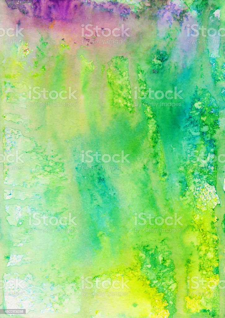 Multiple colors of paint splattered and dripping vector art illustration