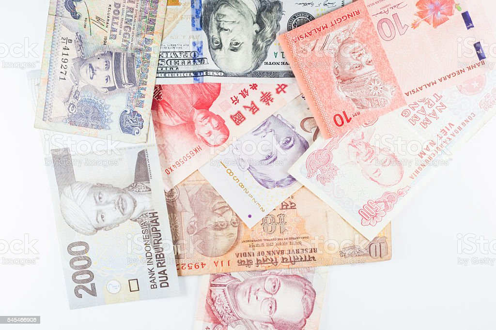 Multiple Currencies banknotes as background stock photo