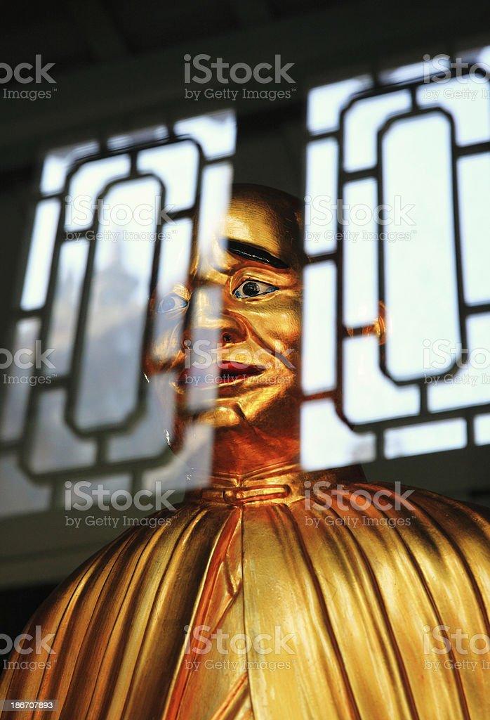 Multiple exposure Buddha stock photo