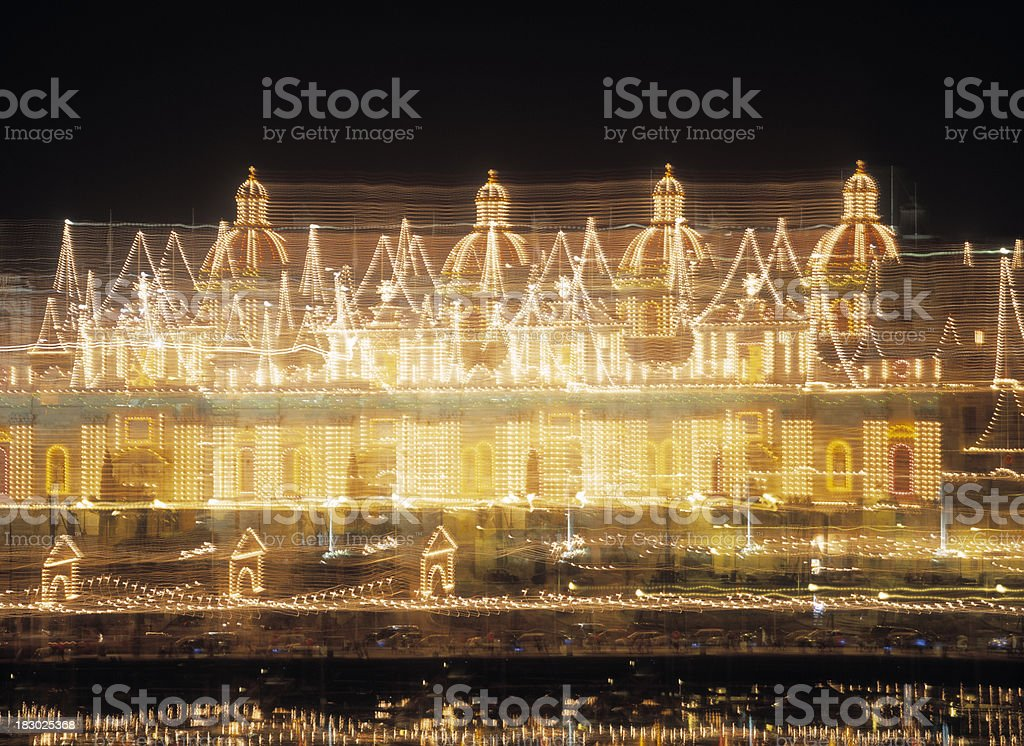 Multiple exposure image of decorated church in Malta. royalty-free stock photo