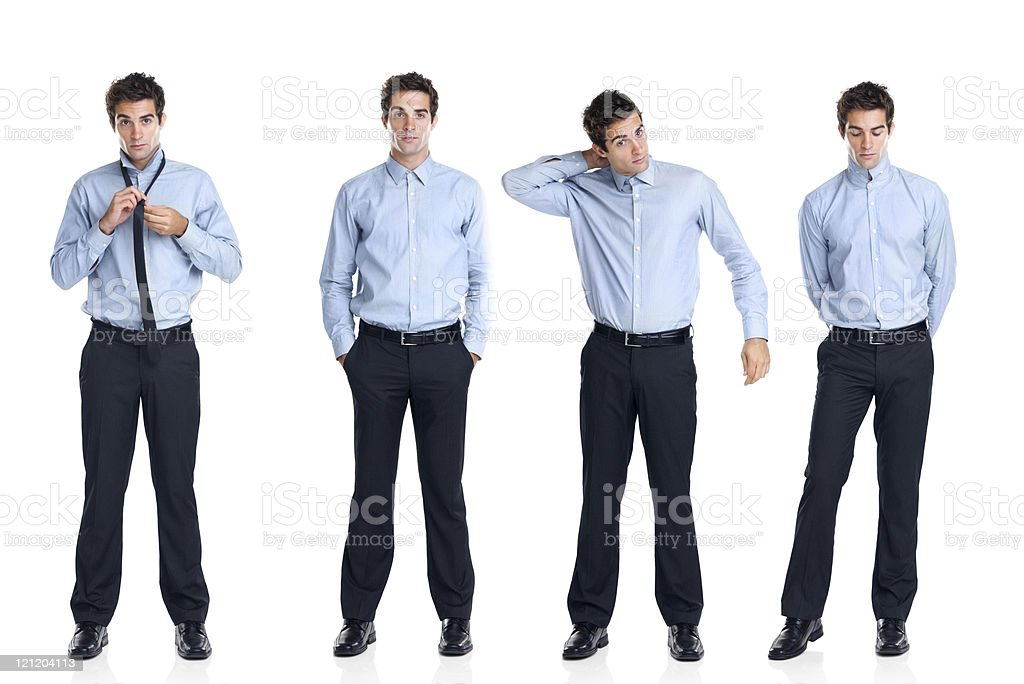 Multiple exposure of a handsome young businessman royalty-free stock photo